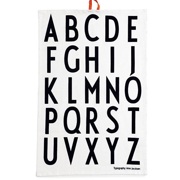 Kuchyňská utěrka Letters, Design Letters, 100% bavlna, barevné poutko, prodává NordicDay.cz, 229 Kč