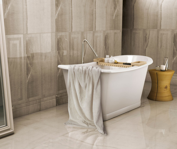 Z estetického hlediska se asi sprchový kout vaně nevyrovná. Zejména s ohledem na postupující trend volně stojících van, které se stávají dominantními solitéry, v podstatě uměleckými díly zdobícími interiér. (foto: Proceram)