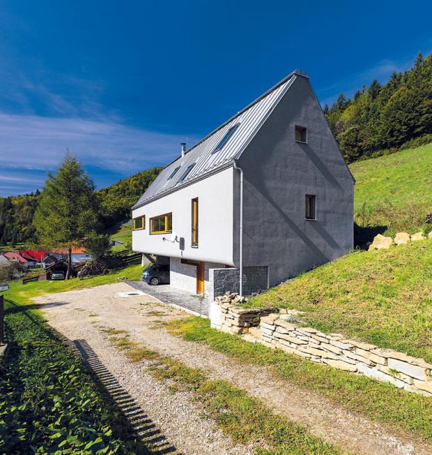 Tvar domu do velké míry určil dlouhý úzký pozemek, kterým navíc prochází přístupová cesta ksousednímu objektu. FOTO DANO VESELSKÝ
