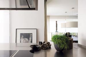 Říká se, že detaily dělají mistra avtomto případě také interiér. Vypovídá osvých obyvatelích ajejich stylu. Zde jde opohled zkuchyňské části do obývací. Foto Tomáš Vrána
