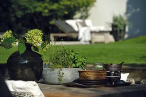 """""""Milujeme naši smutnou zahradu, která je pro nás krásná tím, jak je ponořená sama do sebe - neburcuje množstvím vjemů, barev či květů. Člověk se tak vní může zklidnit, utřídit si myšlenky avnímat detaily aprostotu prostoru."""" Foto Tomáš Vrána"""