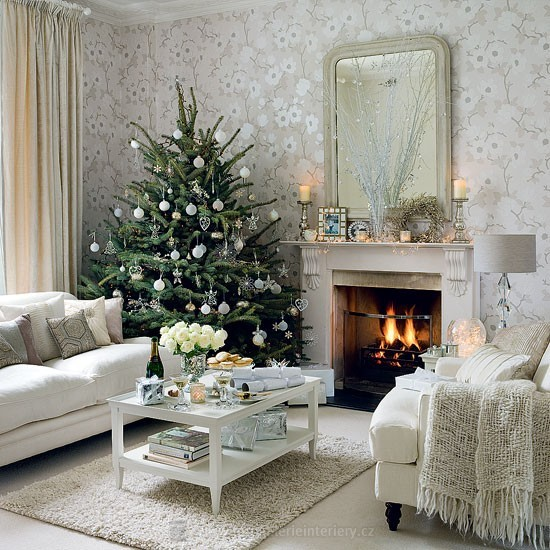 zimní bytové dekorace