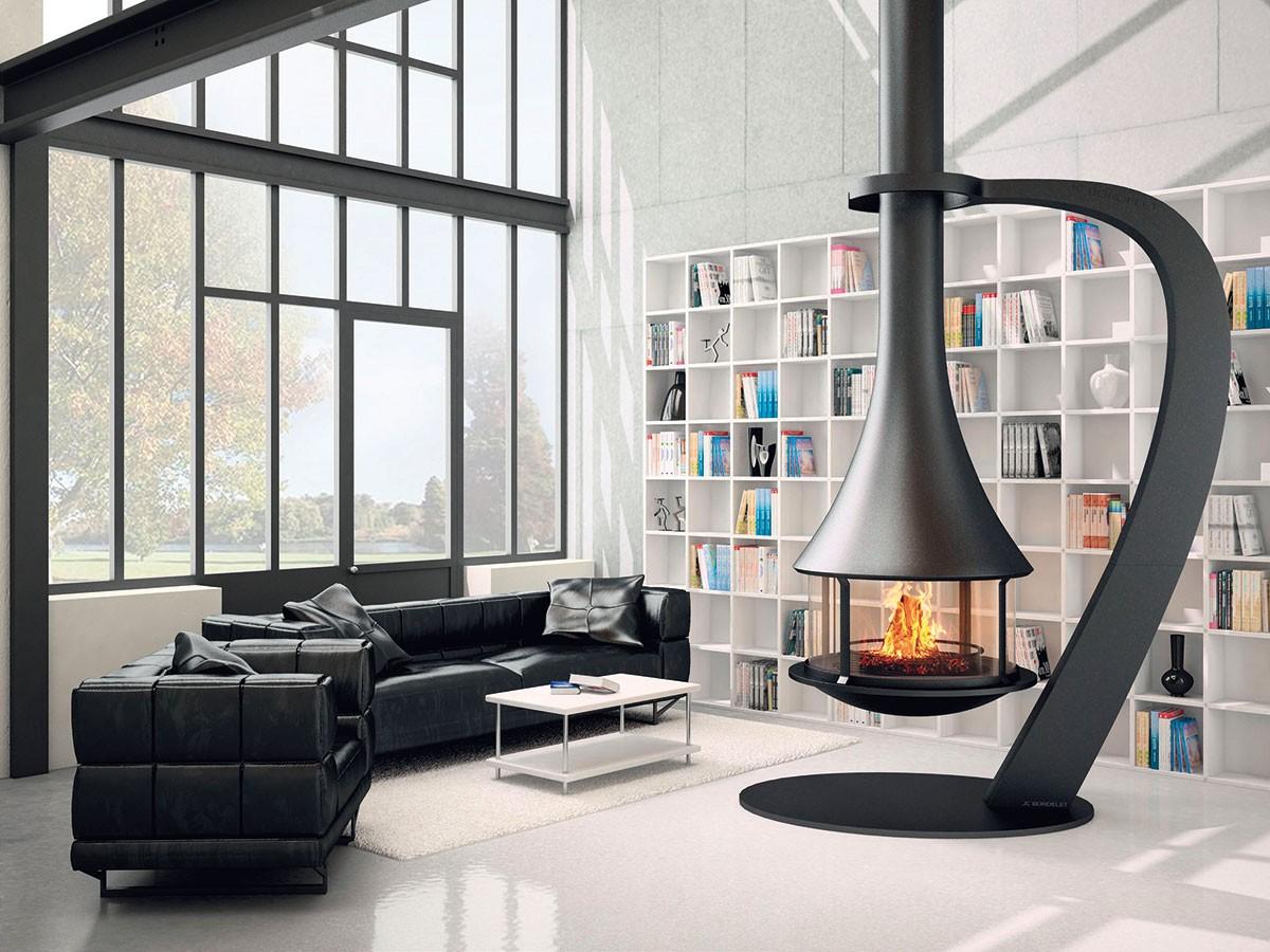 Krb značky J. C. Bordelet je současnou variací na domácí ohniště. Díky kruhovému půdorysu nemusí stát uzdi, ale klidně vcentru obývacího pokoje. FOTO TOPSYS