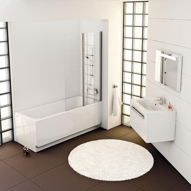 Konkrétní typy svítidel do koupelny vybírejte podle jejich vzdálenosti zdosahu vody. FOTO RAVAK