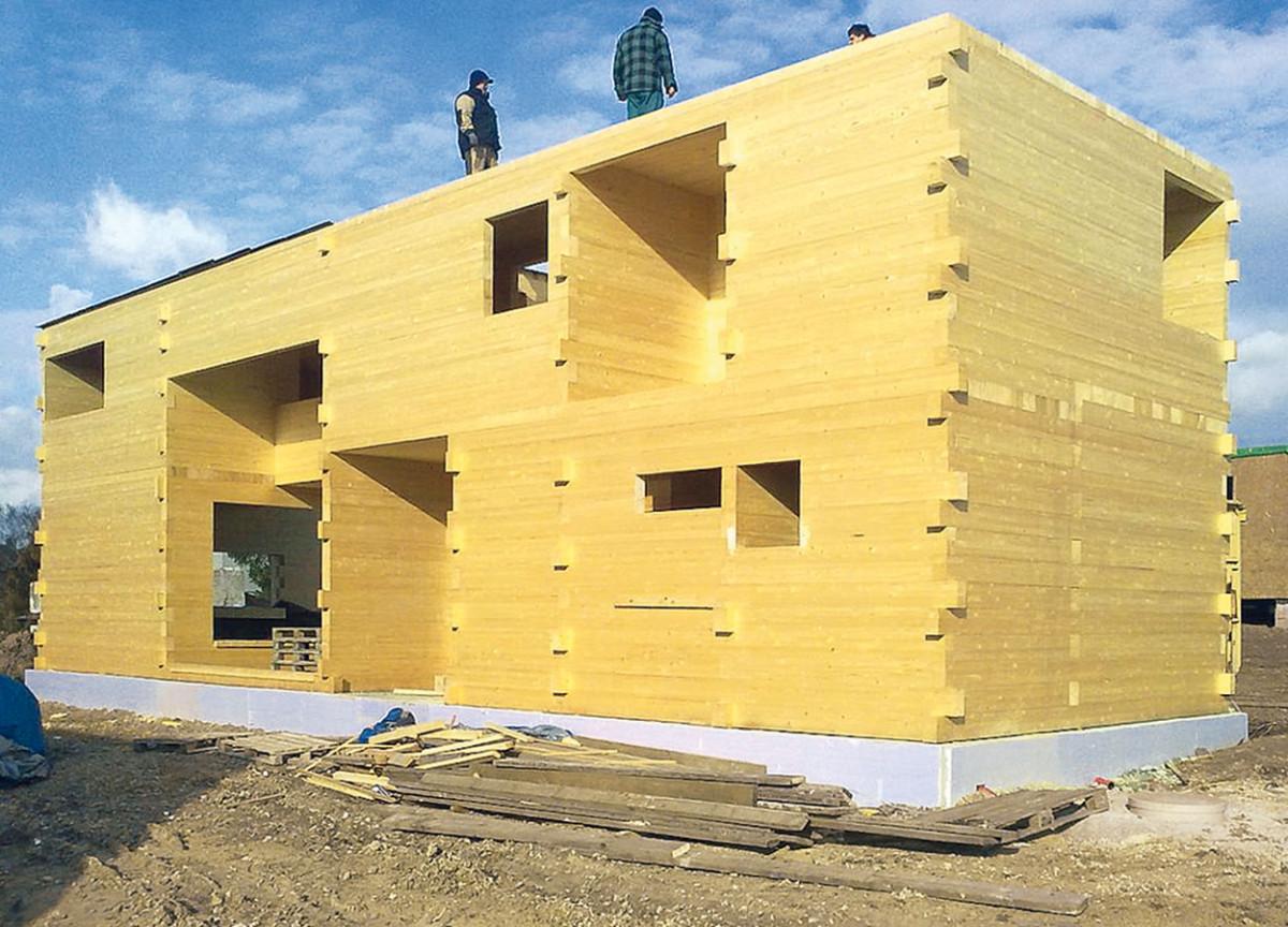 Dřevěná konstrukce zlepených hranolů BSH. foto: d3d
