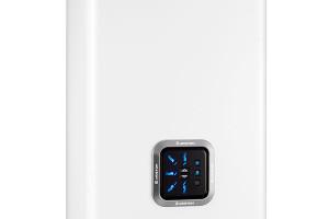 Model Ariston Velis Inox se ovládá pomocí přehledného panelu s tlačítky pro nastavení teploty a s indikací zvolené teploty LED diodami. foto: Ariston Thermo CZ