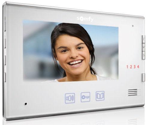 """videotelefon Somfy V600, vnitřní jednotka se 7"""" barevnou obrazovkou"""