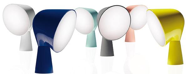 Stolní lampičky Binic od Foscarini dostaly od designérky Ionny Vautrin nové barvy. Nebo, jak výrobce říká – oblékli jim nové šaty. Designérka sáhla na opačné póly barevného spektra – ahledala inspiraci jak voptimistickém designu 50. let minulého století (zářivá žlutá, pastelová růžová atyrkysová), tak ivemočně neutrálních barvách současnosti – indigové, bílé ašedé. Malý stolní maják. FOTO FOSCARINI