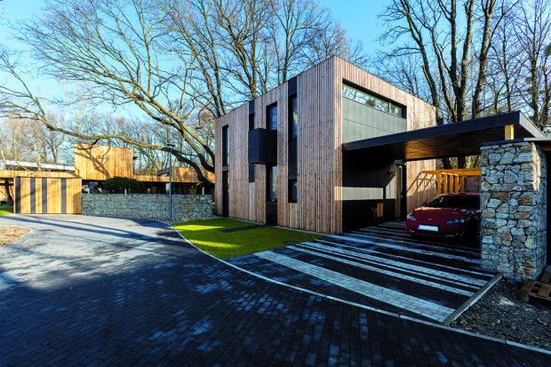 Výsledkem svépomocné práce mladého architekta je moderní dům spjatý s přírodou
