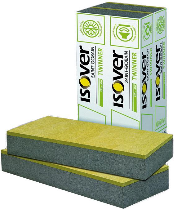 Isover TWINNER je sendvičově uspořádaná tepelně azvukově izolační deska