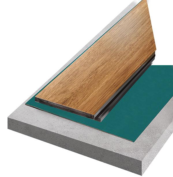 Pro dokonalejší vyrovnání podkladu a lepší zvukovou izolaci se doporučuje použít pod plovoucí vinylové podlahy podkladové podložky.