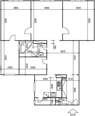 Původní půdorys bytu