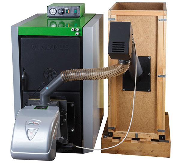 Kotel Hercules Green Eco Therm stojí zhruba 50.000 korun. Zbytek z dotace 80.000 lze využít například na pořízení zásobníku nebo zajištění instalace kotle. Zdroj: VIADRUS
