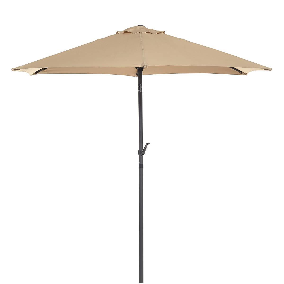 Slunečník Siesta, průměr 250 cm, 100 % polyester, hliníková konstrukce, ovládání klikou, www.butlers.cz, 799 Kč