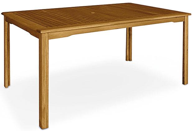 Obdélníkový stůl sotvorem pro slunečník, Fieldmann, 150 x 90 cm, akácie, 3 649 Kč