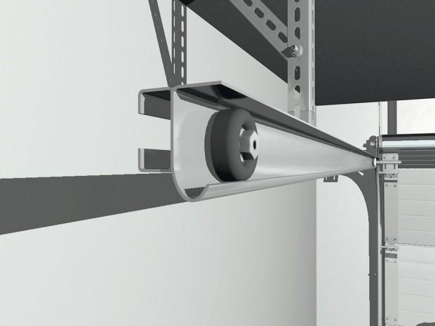 Pojistka proti přetržení pružin tvoří spolu spákovými vraty základní bezpečnostní výbavu garážových vrat. foto: Lomax