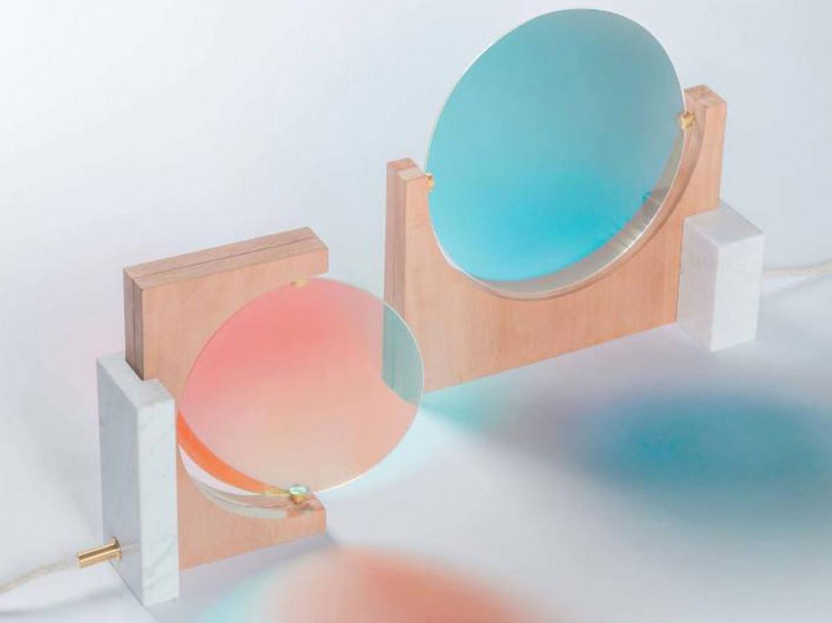 Nový pohled na tento materiál přinesla Éléonore Delisse při tvorbě atmosférotvorného svítidla Day & Night, které využívá barvy na balanc nálad člověka v interiéru. (foto: Laurids Gallée)