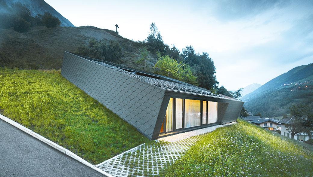 Unikátní novostavba rodinného domu ležící v srdci alpské přírody