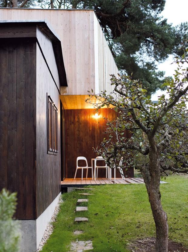 Krytá terasa nabízí posezení i v případě nepříznivého počasí. FOTO ŠTĚPÁN ZÁLEŠÁK