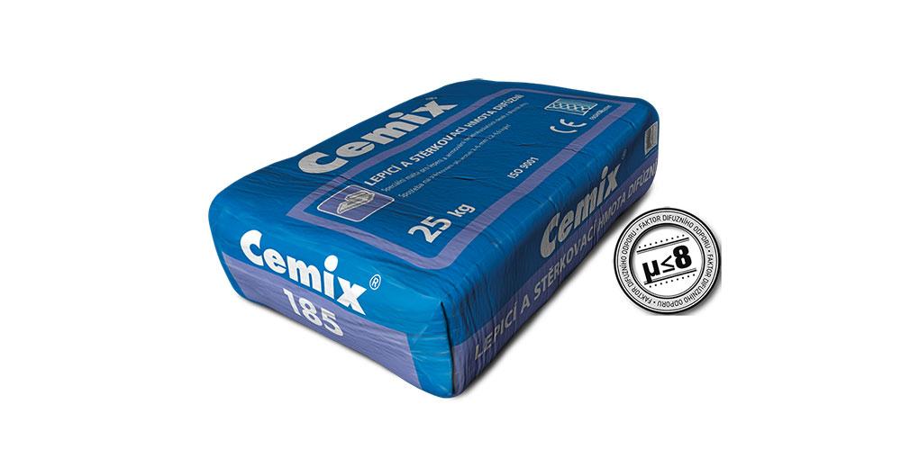 Vysoce prodyšná stěrka Cemix 185 nyní ještě prodyšnější