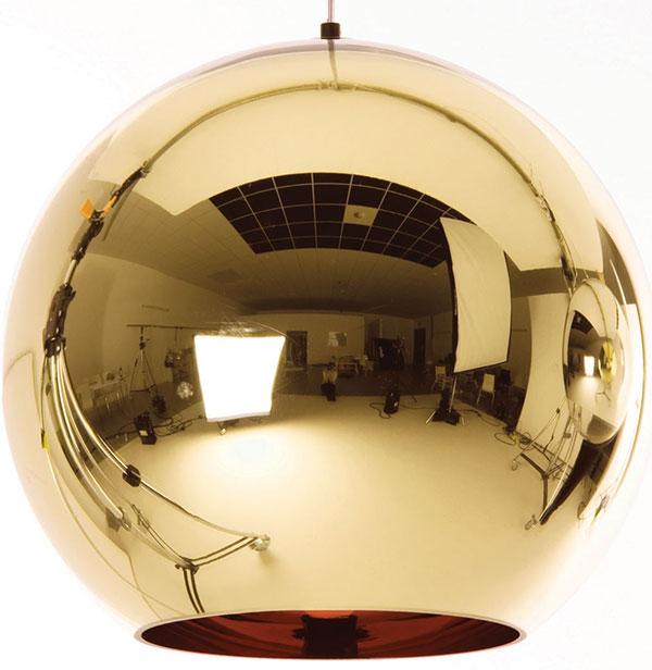 Závěsné svítidlo Ball, různé barvy, průměr 45 cm, www.nest.co.uk