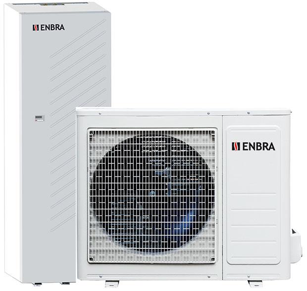 ENBRA i-SHWAK (biblok) je moderní tepelné čerpadlo nové generace spojující kompaktní rozměry, nejnovější technologie adesign mezinárodně uznávaného umělce Silvana Bellintaniho. Vnabídce je verze sintegrovaným zásobníkem 190 nebo 250 l, srozhraním pro nadřazenou regulaci 0–10 V. Tepelné čerpadlo umožňuje vzdálený přístup přes internet (sregulátorem Hi-T). Všechna čerpadla od společnosti ENBRA mají technické parametry certifikovány nezávislou autorizovanou zkušebnou (Eurovent). FOTO ENBRA