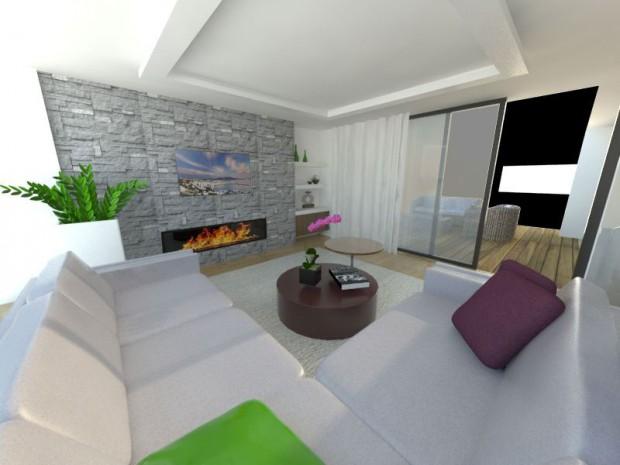 V obývacím pokoji se často preferuje nábytek v neutrálních a tlumených barvách.