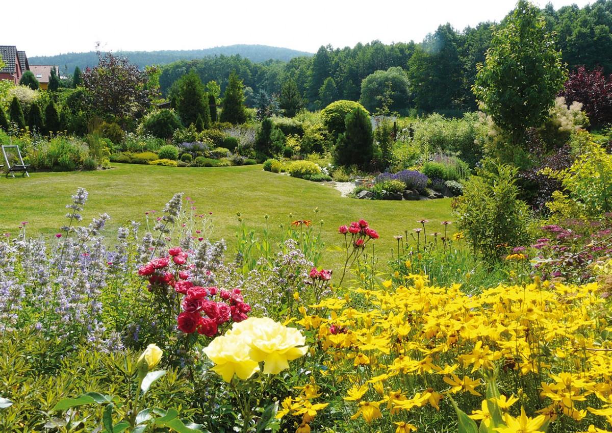 Koncept zahrady je položen do zajímavé krajiny Libře.