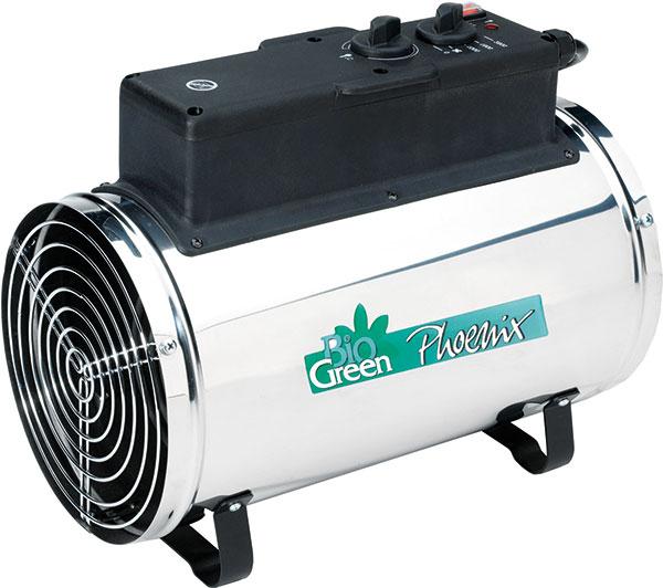 Multifunkční elektrické vytápění Phoenix snerezovým pláštěm je určené právě do skleníků či zimních zahrad.