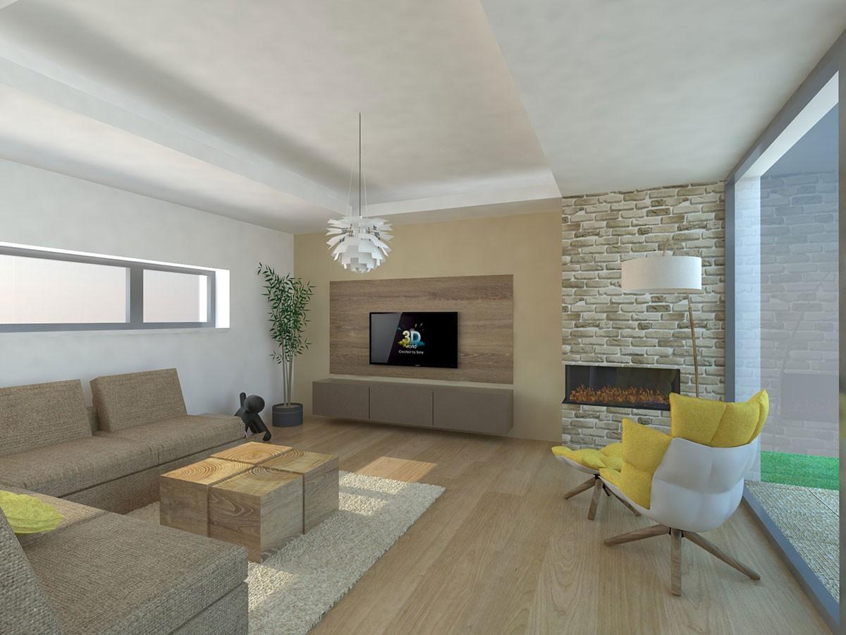 Dřevo je pro svůj na pohled příjemný vzhled v obývacím pokoji vítaným materiálem.