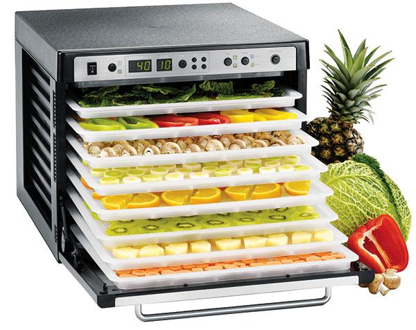 Tribest Sedona P 9150 Combo, sušička potravin, digitální termostat, technologie duálního větrání, nerezové madlo aprůhledné skleněné dveře, 43 × 51 × 35,5 cm, mall.cz, 13 990 Kč