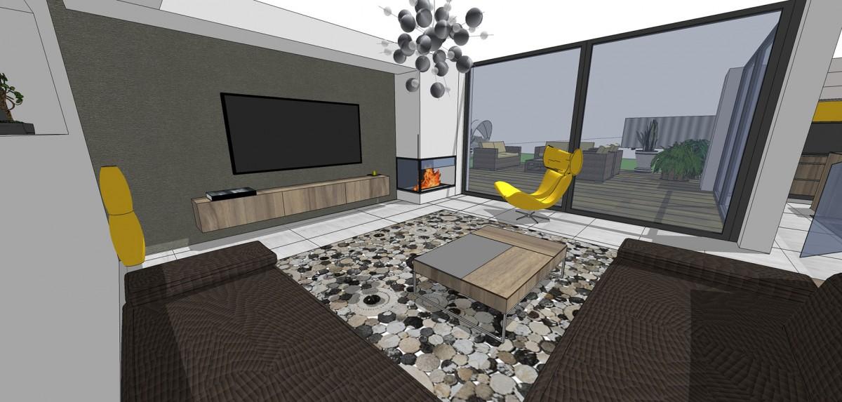 Použitím kontrastní barvy vnesete do obývací místnosti trochu dynamiky i napětí.