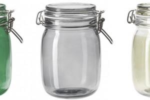 Skleněná dóza svíkem Hemsmak, 1 l, sklo, IKEA, 99 Kč
