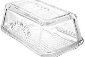 Skleněná máslenka Kilner, silnostěnná, na 250 g másla, 17 × 10 × 7,2 cm, Luxurytable.cz, 379 Kč