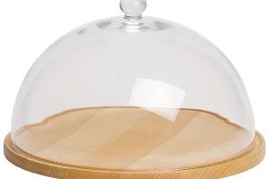 Poklop Canopy na sýr či koláč, průměr 29,5 cm, skleněný poklop, prkénko zbukového dřeva, Butlers, 699 Kč