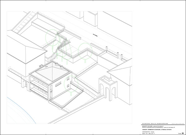 Dům u jezera Como Architekt Cesare Sala, engineer, Lierna, Itálie
