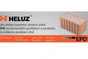 Heluz jako jediný výrobce cihel deklaruje ekologickou výrobu