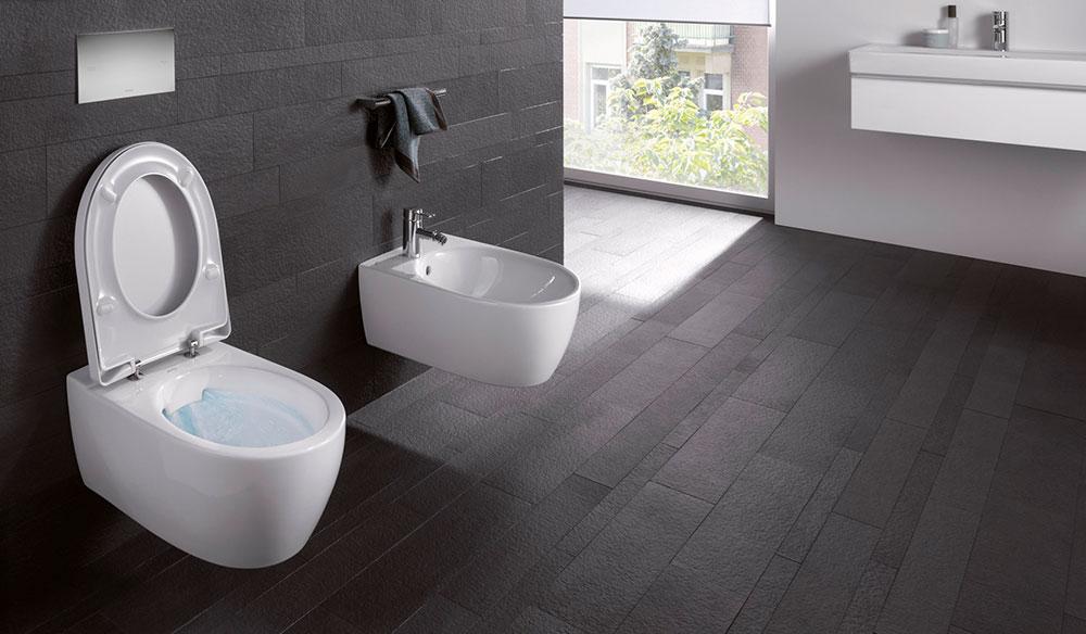 WC bez splachovacího kruhu Rimfree ® šetří vodu a čisticí prostředky