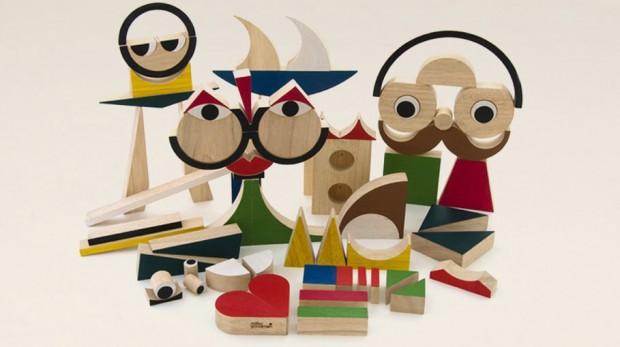 Dřevěná stavebnice PlayShapes (74 ks), Miller Goodman, prodává Ookidoo.cz, 3 220 Kč