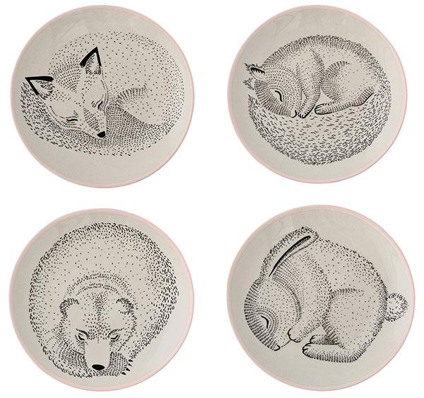 Keramické minitalířky Animals, Bloomingville, prodává NordicDay.cz, 274 Kč/ks