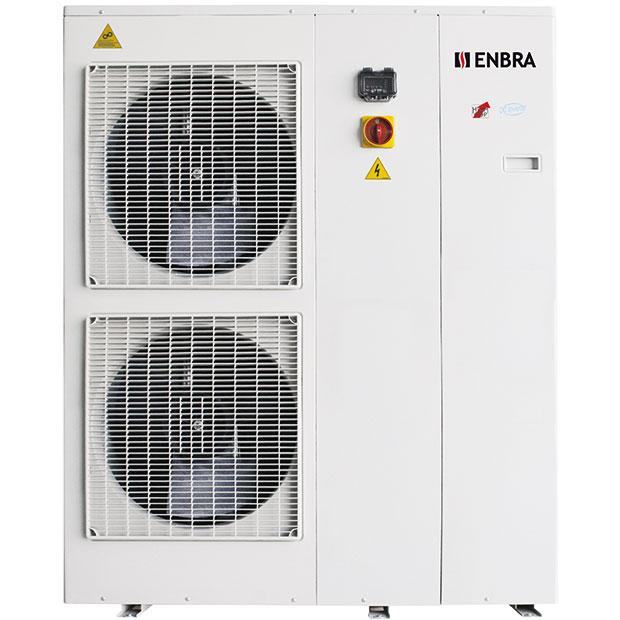 Tepelné čerpadlo ENBRA i-HWAK (monoblok) je úsporný zdroj tepla smožností chlazení ařízeného odvlhčování (ve spojení sfan-coily).