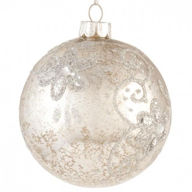 Vánoční koule s kvítky, prodává Almarashop.cz, 124 Kč