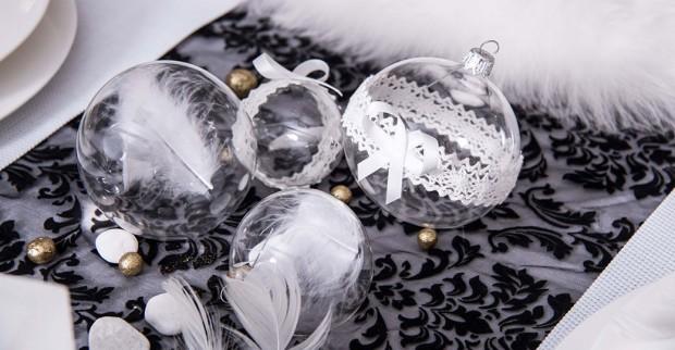 Skleněné ozdoby (koule) s krajkou, Glassor, prodává Glassor.cz, od 42 Kč