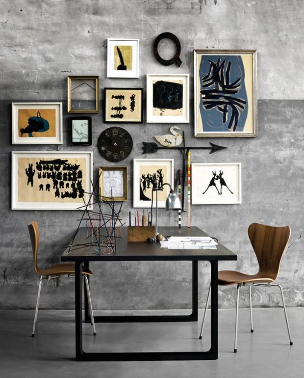 Ve stylu elegantní moderny. Subtilní minimalistický nábytek uvítá i výraznější kompozici (nejen) exotických prvků. Stylový kontrast (jednoduchost – výstřednost) je spolehlivou volbou pro elegantní interiéry s exotickým šmrncem. (foto: Fritz Hansen)
