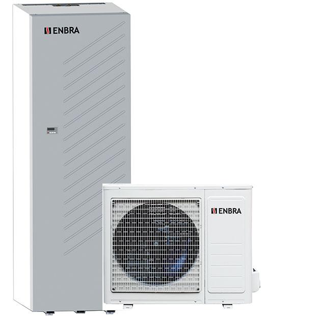 Moderní tepelné čerpadlo nové generace ENBRA i-SHWAK (biblok) svenkovní avnitřní jednotkou
