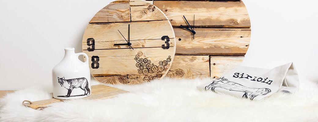Jak si vyrobit hodiny ze starých desek
