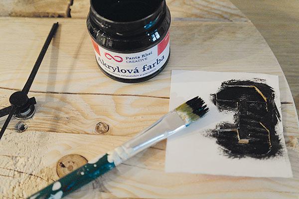 17. MALOVÁNÍ Do tvrdšího papíru vystřihneme předkreslená nebo předtištěná čísla ačernou akrylovou barvou je vymalujeme.