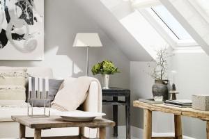 Se střešními okny se pojí hlavně úžasné světlo vinteriéru apocit vzdušnosti aspojení sokolím.