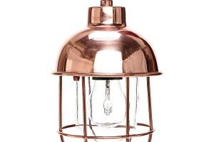 Závěsná lampa Glass Dome Copper, Hübsch, kombinace mědi a skla, průměr 14 cm, výška 24 cm, www.nordicday.cz, 2 679 Kč