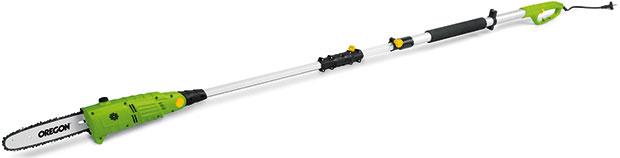 Fieldmann FZP 6005-E, teleskopický prořezávač větví, příkon 600 W, lišta (25 cm) ařetěz Oregon, délka rukojeti až 280 cm, hmotnost 3,5 kg, vbalení ramenní popruh akryt lišty, 1999 Kč